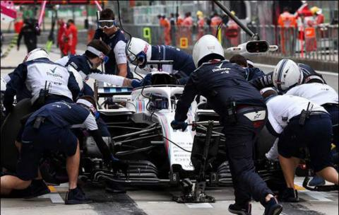 Williams win DHL Fastest Pit Stop in Baku