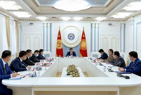 President Jeenbekov chairs meeting of Security Council