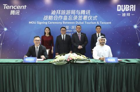 Dubai Tourism signs strategic agreement with internet company Tencent