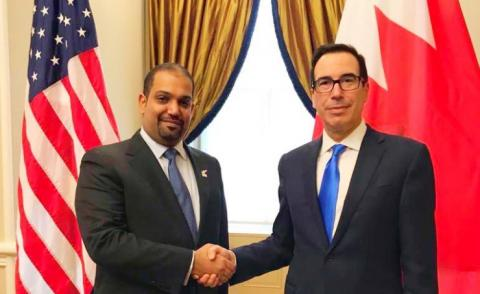The Minister of Finance and National Economy meets the U.S. Treasury Secretary