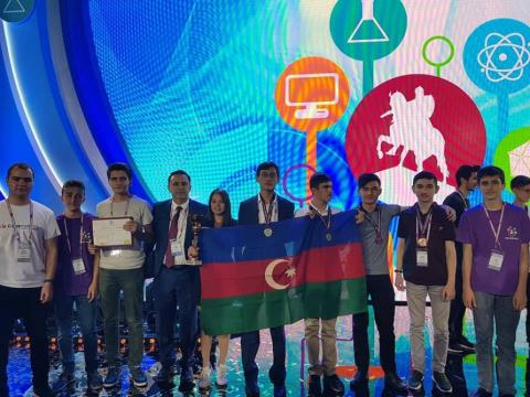 Azerbaijani schoolchildren win 4 medals at International Olympiad of Metropolises in Moscow
