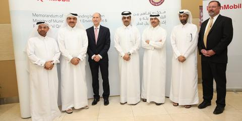 Ministry of Municipality and Environment Signs MoU with ExxonMobil Qatar