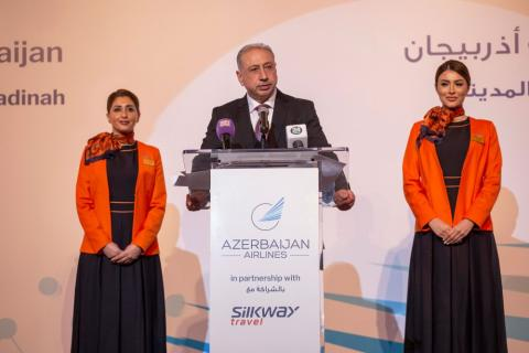 Azerbaijan's national air carrier presents new destinations to Saudi Arabia in Riyadh