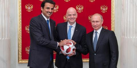 HH the Amir Officially Receives Hosting Mantle of 2022 FIFA World Cup Qatar
