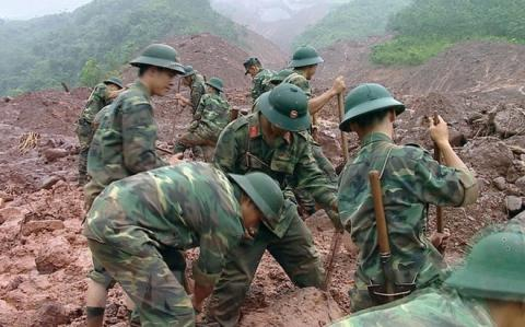Search for missing people in Sin Ho district, Lai Chau province (Source: VNA)
