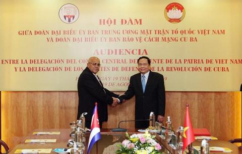 Front leader: Vietnam ready to share reform experience with Cuba