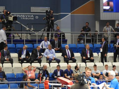 Parliament Speaker watches Azerbaijani boxer`s bout at 2nd European Games