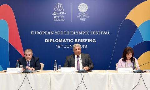 Baku 2019 holds diplomatic briefing ahead of 15th Summer European Youth Olympic Festival