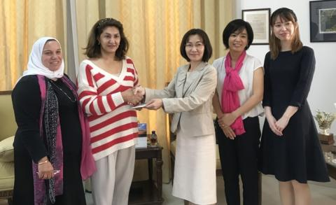 Japanese embassy presents donation to Children and Mothers Welfare Society