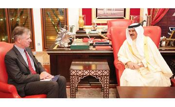 HM King receives new IISS executive director