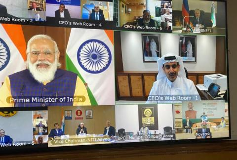 Minister of State for Energy Affairs Takes Part in Interactive Discussion with India's Prime Minister, Global Energy Sector Leaders