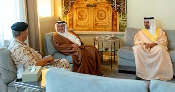 HRH the Crown Prince receives Commander-in-Chief of the Bahrain Defence Force (BDF)