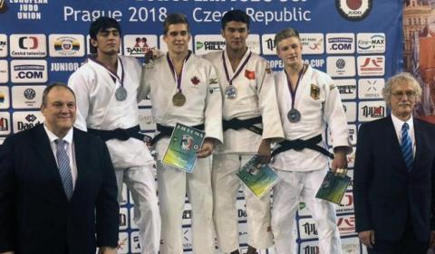 Junior Azerbaijani judo fighters win nine medals at European Cup