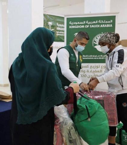 KSrelief Continues Distributing Winter Clothes to Refugees in Jordan