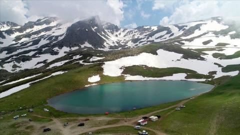 Lakes offer scenic beauties to visitors in NE Turkey