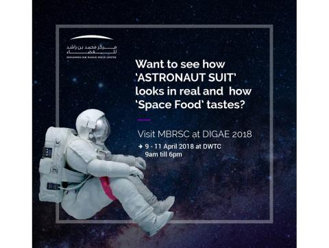Mohammed bin Rashid Space Centre to debut Astronaut's suit at DIGAE