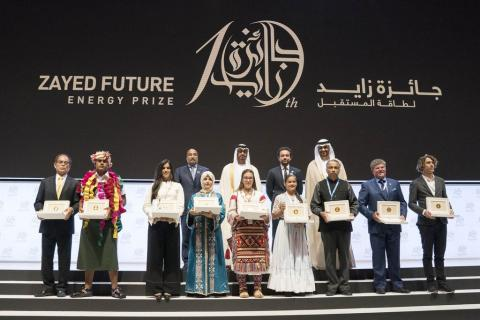 Mohamed bin Zayed honours winners of Zayed Future Energy Prize