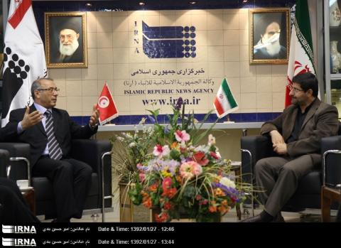 IRNA Chief: Iran favors powerful, stable Tunisia 