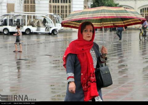 A rainy summer day in northern Iran