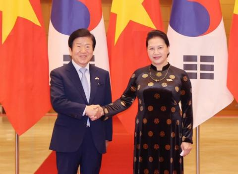 NA leaders voice readiness to augment Vietnam-RoK relations