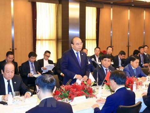 Vietnamese PM talks with Japanese real estate, financial firms