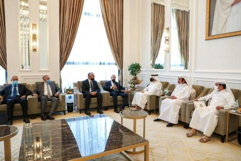 Qatar's Deputy Prime Minister and Minister of Foreign Affairs Meets Libyan Foreign and Interior Ministers