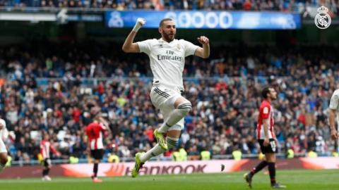 Benzema's hat-trick gives Real Madrid 3-0 win over Bilbao