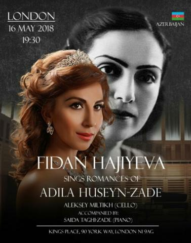 Fidan Hajiyeva to perform romances by Azerbaijani composer Adila Huseyn-Zade in UK