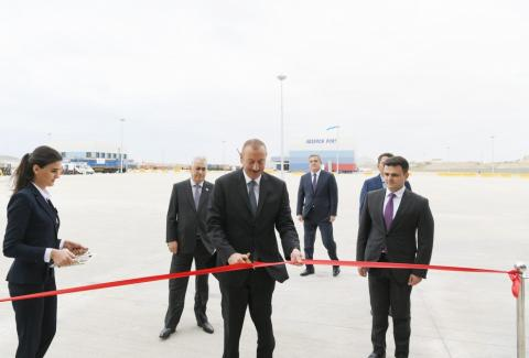 President Ilham Aliyev attended opening of Absheron Logistics Center