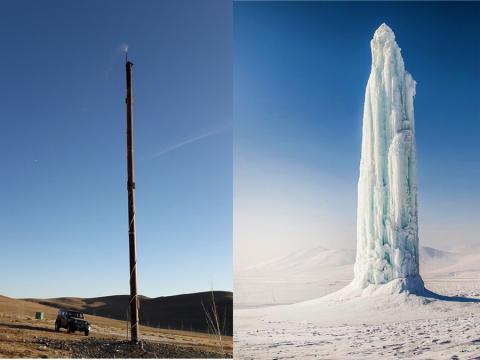 30 METER ICE TOWER BUILT FOR TREES