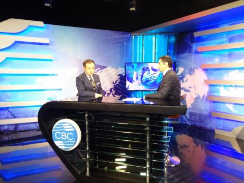 MINISTER D.TSOGTBAATAR GIVES INTERVIEW FOR CBC TV