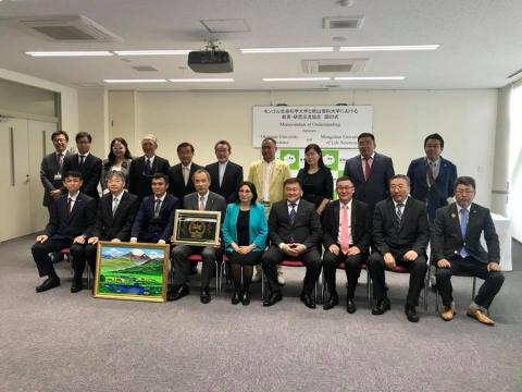 MONGOLIAN UNIVERSITY OF LIFE SCIENCES TO COOPERATE WITH OKAYAMA UNIVERSITY OF SCIENCE