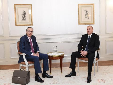 President Ilham Aliyev met with Executive Vice President of Bouygues Travaux Publics company