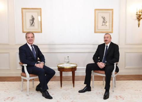 President Ilham Aliyev met with Chairman and CEO of CIFAL Group in Paris