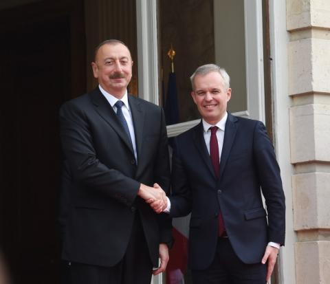 President Ilham Aliyev met with president of French National Assembly in Paris