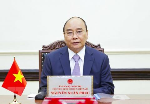 Vietnamese President Nguyen Xuan Phuc holds phone talk with Russian counterpart