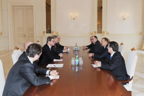 President of Azerbaijan receives foreign minister of Germany