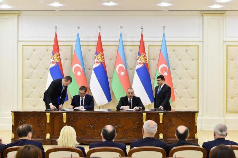Azerbaijan, Serbia sign documents in Baku