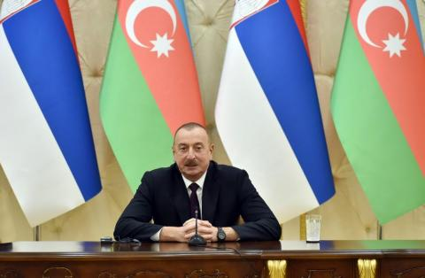 President Aliyev: Conflicts faced by Azerbaijan, Serbia must be resolved in line with countries' territorial integrity