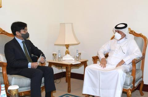Minister of Municipality and Environment Meets Second Korean Vice Minister of Foreign Affairs