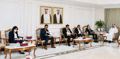 Qatar Chamber First Vice Chairman Meets Indonesian Vice Minister for Foreign Affairs