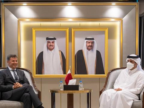 Qatar's Deputy Prime Minister and Minister of Foreign Affairs Meets Prime Minister of Bosnia and Herzegovina