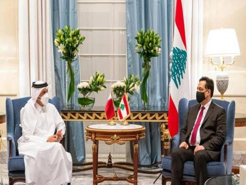 Deputy Prime Minister and Minister of Foreign Affairs Meets Caretaker Prime Minister of Lebanese Republic