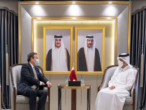 Qatar's Deputy Prime Minister and Minister of Foreign Affairs Meets Administrator of UNDP