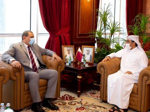 Qatar's Minister of Labor Meets Members of the Board of Directors of the Arab Labor Organization and his Counterparts in Egypt and Palestine