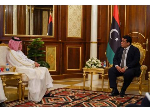 Chairman of the Presidential Council of Libya Meets the Qatar's Minister of State for Foreign Affairs