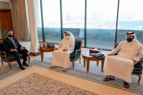 Qatar's Minister of Finance Meets Credit Suisse Group Chairman