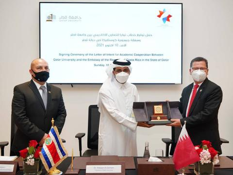 QU and Embassy of the Republic of Costa Rica Sign Agreement