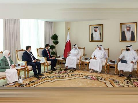 Qatar's Minister of Commerce and Industry Meets with Head of Investment Office of Turkish Presidency