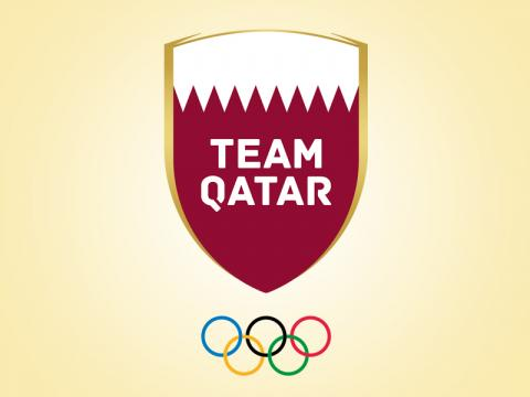 Qatar Flag Hoisted in Sports Village of Asian Games in Jakarta